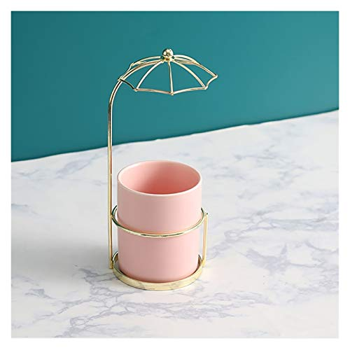 WCN Makeup Box Makeup Organizer Brushes Vanity Box Cosmetic Storage Umbrella Shaped Cute Cup Countertop Personal Care (Color : C)