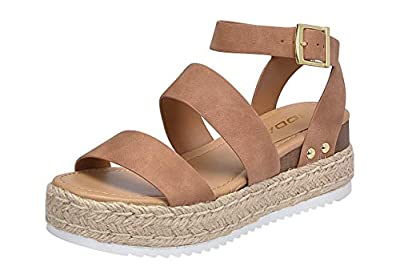 Soda Women's Shoes Clip Open Toe Casual Platform Sandals