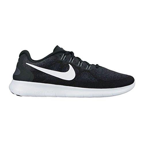 Nike Women's Free RN 2017Running Shoes, Black/White-Dark Grey-Anth