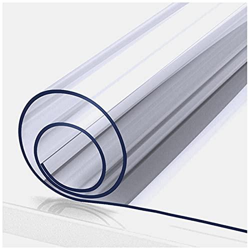 Mantel Transparente Rectangular, Cubierta De Mesa De PláStico, Mantel Impermeable De PVC Limpiable A Prueba De Aceite Para Mesa De Comedor, Escritorio(Color:1mm,Size:90x150cm)