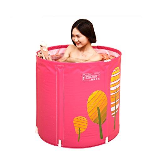 Aufblasbare Badewanne LINGZHIGAN Erwachsene Badewanne Verdicken Plastik Badewanne Faltbare Badewanne Eingebautes Kissen Nicht schwimmend (größe : 70 * 70cm)