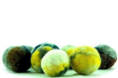 kivikis Cat Toy Wool Balle en laine faite à la main avec 5 balles en laine