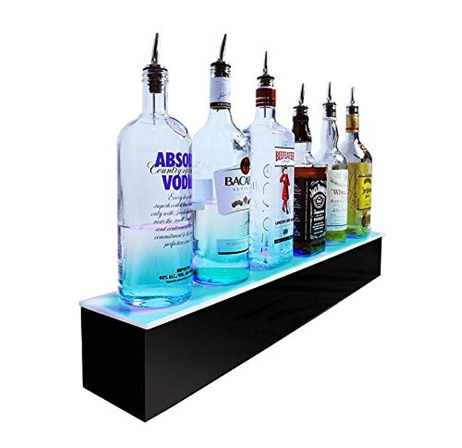 BARCONIC LED Liquor Bottle Display Shelf - 1 Tier- Multi Colored Lights - Several Lengths … (48