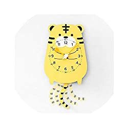 I'll NEVER BE HER Creative Home Decorative Cute Elephone Wall Clock Mirror Bedroom Silent Watch On Wall, Tigger