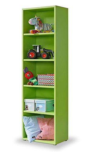 Cultmöbel Regal grün, Click Regal: werkzeuglose Montage, Bücherregal grün, 4 EB