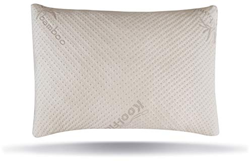 Snuggle-Pedic Ultra-Luxury Bamboo Shredded Memory Foam Pillow Combination with Adjustable Fit...