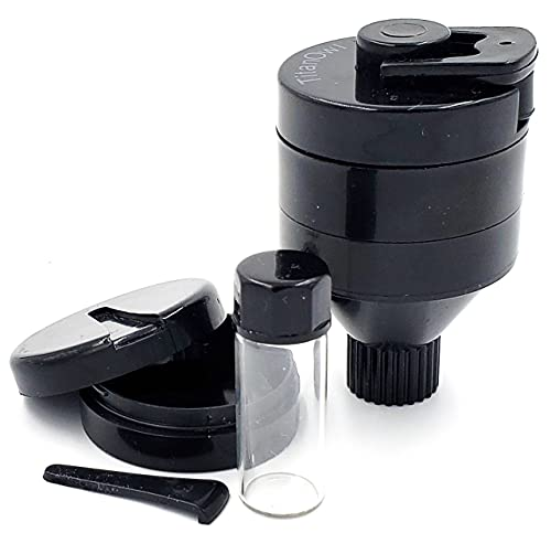 Powder Spice Grinder Hand Mill Funnel - Plastic 3...