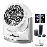 Fan, Phone Voice Control Oscillating Fan, Alexa Google Home Remote Control Floor Fan