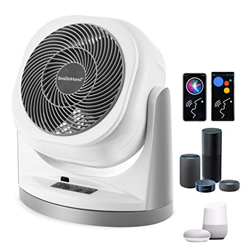 Fan, Fans Oscillating, Phone Voice Control Oscillating Fan, Alexa Google Remote Control Floor Fan, WiFi Smart Air Circulator Fan, Stand Up Fans For Home, House Standing Box Desk Fans For Bedroom Cooling, Room Quiet Small Electric High Velocity Desktop Rotating Table AC Fan, 2.4G WiFi Only (no 5G WiFi)