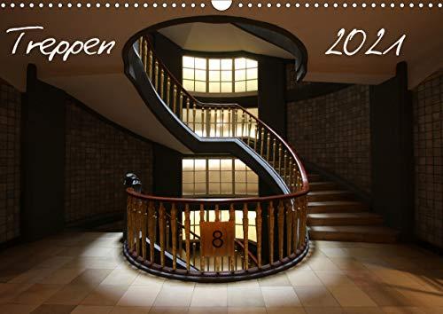Treppen (Wandkalender 2021 DIN A3 quer)