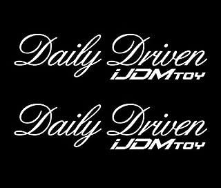 iJDMTOY (Pack of 2 7-Inch Daily Driven JDM Stancenation Sortaflash Nation Drift Racing Car Window Bumper Die-Cut Vinyl Deacals Stickers