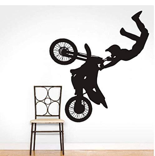 Motorrad Racing Vinyl Wandaufkleber Home Decoration Wandbild Boy Schlafzimmer Wandtattoo Sports Man Wallpaper New Arrival Poster 56X62Cm