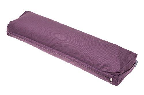Handelsturm Pranayama Yogakissen mit Buchweizenfüllung und einem abnehmbaren Bezug aus Baumwolle für Atemübungen beim Yoga und für die Rückenstabilisierung lila