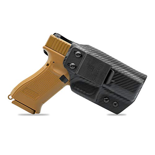 Clip & Carry IWB Kydex Holster | Inside Waistband Concealed Carry | Click Retention | Adjus. Cant | Claw Compatible | USA Veteran Made - Carbon Fiber Black | Fits Springfield XDS 3.3' 9/40
