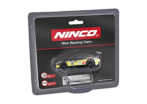 Ninco - Maserati GT4 Yellow. Coche de Slot Escala 1:43. con Luces. 91207
