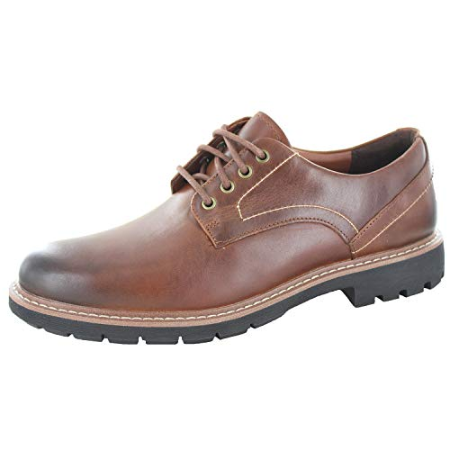 Clarks Herren Batcombe Hall Derbys, Braun (Dark Tan Lea), 42.5 EU