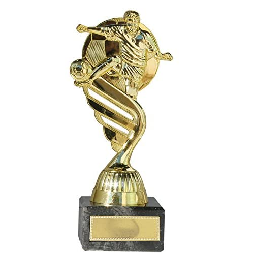 Eurocebrian Trofeo Futbol Futbolista Oro o Plata con balón: Amazon ...