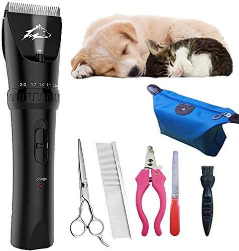 Tijeras de corte del pelo de perro Clippers de herramientas, recargable for mascotas Quiet profesional de bajo ruido preparación del perro Clippers inalámbrico IR Trimmer, mejor cortadora de cabello f