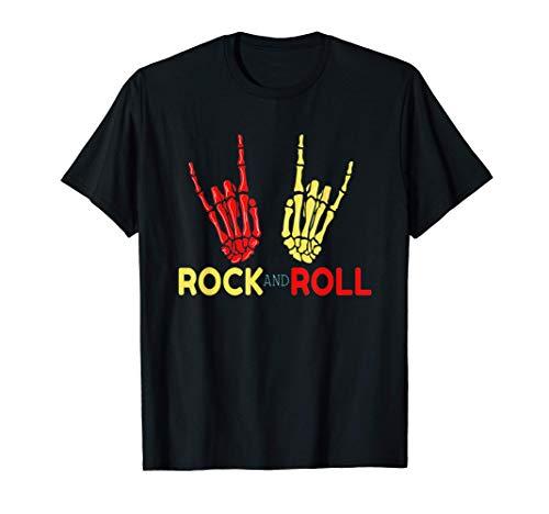Manos Esqueleto Símbolo Rock And Roll...