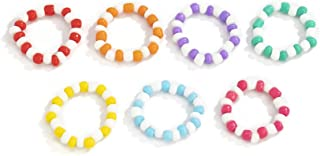 بوهو خواتم الخرز الملونة اليدوية مرونة الخرز خاتم الإصبع مجموعة خواتم الرص العصرية Vsco الخرز الشاطئ للنساء والفتيات