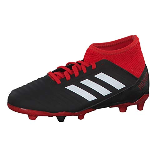 adidas Predator 18.3 Fg, Scarpe da Calcio Unisex-Bambini, Nero (Cblack/Ftwwht/Red Cblack/Ftwwht/Red), 28 EU