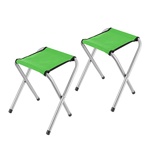 YongTong 2Pack Folding Camping Stool Lightweight Portable Sturdy Camping Chair for Outdoor Picnic Fishing Hiking and Backpacking Compact Traveling Little Stool  118quotx98quotx157quot  Green