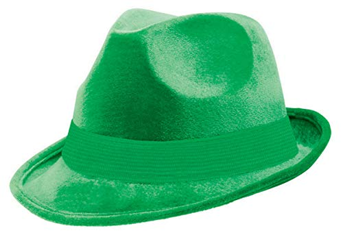 Amscan 255519.03 Green Velour Adult Fedora, 1ct
