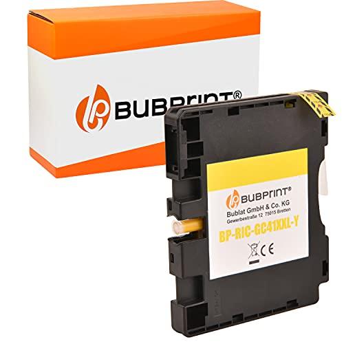 Bubprint Druckerpatrone kompatibel für Ricoh GC-41 GC-41Y für Aficio SG2100N SG3100SNw SG3110DN SG3110DNw SG3110SFNw SG3120 SG7100DN SG-K3100DN Gelb