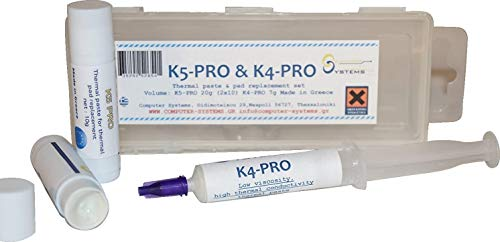 CS Labs Pasta térmica y reemplazo de Pastillas K4-Pro & Pro-K5 Conjunto para iPhone, iMac PS4 PS3 Xbox ASUS DELL, etc.