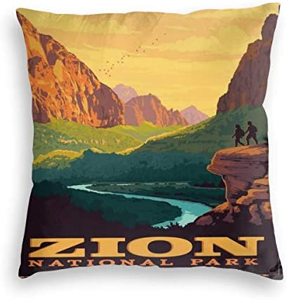 Wonderllty Zion National Park Anniversary Pillowslip Throw Pillow Cover Novelty Creative Cushion product image