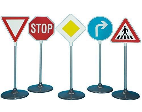 Theo Klein 2980 - verschiedene Verkehrszeichen, 5-teilig, Spielzeug