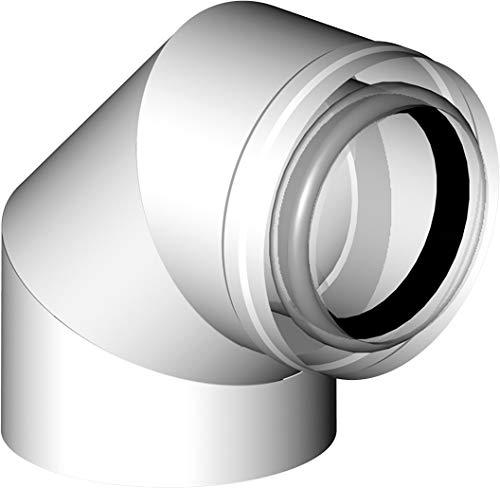 Almeva PPH/PPH LIK - Bogen 87° RLU Betriebsweise DN 60/100 Abgas konzentrisch