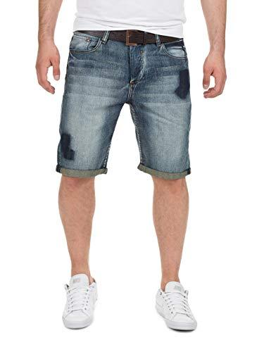 Eight2Nine Herren Kurze Hose Bermudas Haka Jeans Shorts 5-Pocket 15799, (19300) Middle Blue, W31, (19300) Middle Blue, W31