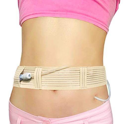 PD Cotton Belt Peritoneal Dialysis Catheter Supplies Stretchy Breathable Abdominal Holder Accessories Adjustable for Secure Dialysis Line Peg G Feeding Tube Women Men Large(35