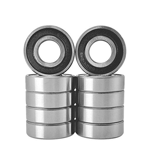 Henson 6204-2RS Bearing 20x47x14 Sealed Bearing 6204 Bearings ABEC-7 Ball Bearing High Speed Low Noise Fit for Pool Pump and Lawn Mower Deck Idler Pulley, 10 Pack