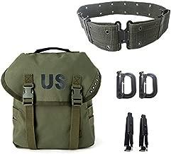 Multipurpose Military Alice Butt Pack,Army Sling Bag Molle Webbing Messenger Bag and Webbing Belt Olive Drab
