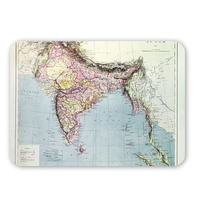 Map of India, published under the direction.. - Mouse Mat Art247 Highest Quality Natural Rubber Mouse Mats - Mouse Mat