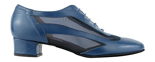 Rumpf 9103 Damen Standard Swing Lindy Hop Balboa Westcoast Tanz Schuhe Blau, Blau, 40.5 EU