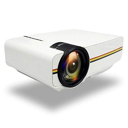 GY-HCJI Mini 1080P-Projektor, 1800Lumen Tragbarer LCD-LED-Projektor, Heimkino-USB HDMI 3D Beamer Bass-Lautsprecher