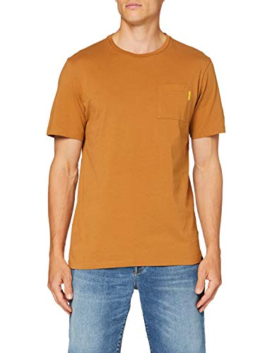 Scotch & Soda Fabric Dyed Pocket Tee T-Shirt, Tabacco 1341, S Uomo