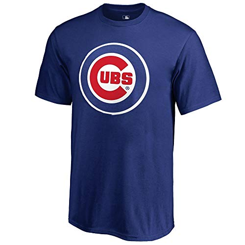 Outerstuff MLB Boys Youth 8-20 Team Color Primary Logo T-Shirt (Chicago Cubs, Youth Medium 10-12)