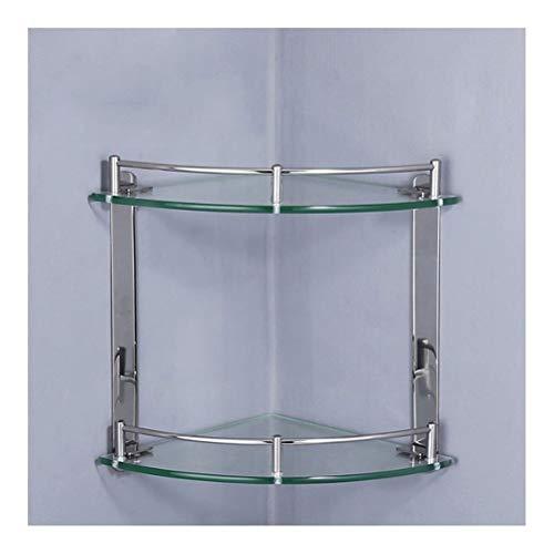 ZWJ wandrek, douchewandrek, glazen plank met 2 haken en handdoekhouders, hoekrekken, badkuip, douchebak, wand bevestigde mand, drielingen, evenwichtig glas, 12-7