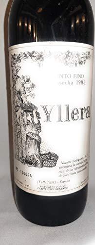 Yllera 1983. Origen Valladolid. Tierra Castilla y León. Vino tinto. Wine bottle
