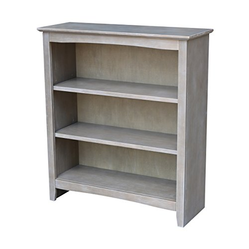 International Concepts Shaker Bookcase, 36', Washed Gray Taupe