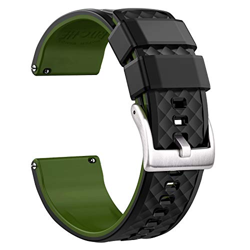 Ritche 20mm Silicone Watch Band Compatible with Samsung Galaxy Watch 3 (41mm) Gizmo Watch Quick Release Rubber Watch Bands for Men Women