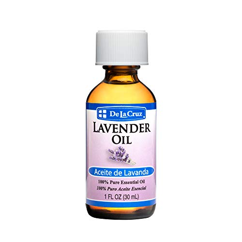 De La Cruz Pure Lavender Essential Oil, Steam-Distilled, Bottled in USA 1 FL OZ