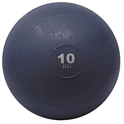 POWRX Slam Ball Balón Medicinal 10 kg - Ideal para Ejercicios de »Functional Fitness«, fortalecimiento y tonificación Muscular - Contenido de Arena y Efecto Anti-Rebote + PDF Workout (BLU)