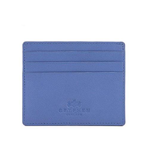 Gryphen, Hoxton, portafogli sottile, in pelle, per carte di credito, Blu