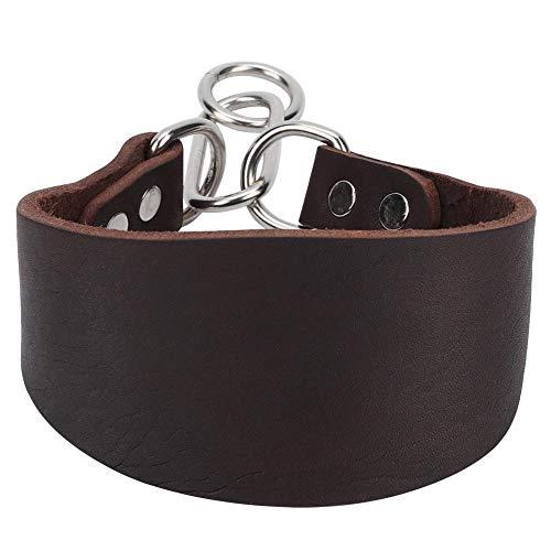 Hffheer Collar de Perro, Collar portátil Duradero para Mascotas, para Mascotas, Collar de Perro Blando, para Perro pequeño Galgo Whippet con Remache de fijación marrón