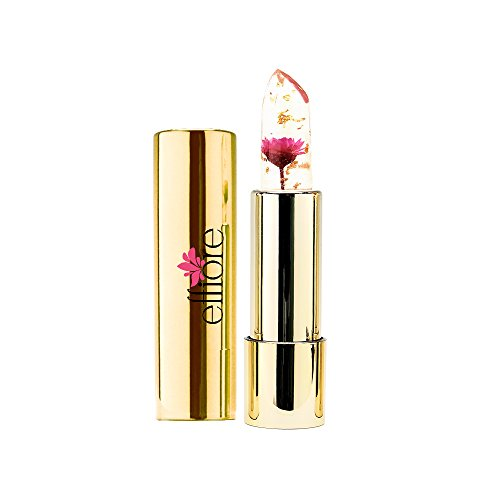 Effiore Lipstick Color Changing Cruelty-Free Lipstick that Stains Lips Based on Mood Made w/Real Flowers & Compact Case (Supernova Pink)
